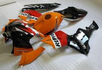 Wholesale 3 gifts Bolts Injection Mold Customized Fairing kit for HONDA CBR600RR CBR600 CBR600RR F5 REPSOL Red orange Fairings set