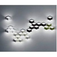 aluminum ice cube - flod magic led Wall Light aluminum Stereo Rhombus Ice Cube D Wall Lamp Geometry Square Grid Box indoor lighting