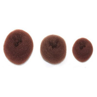 Wholesale Coffee Color Size L Hair Styling Donut Magic Sponge Bun Ring Maker Former Twist Tool