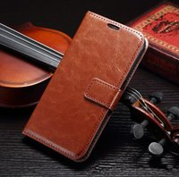 book flip - For Samsung Galaxy S6 G9200 Book Style Crazy Horse Stand Flip PU Wallet Leather Case With Credit Card SLot Inner Protective Case For S