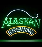 alaskan beers - NEW ALASKAN BREWING COMPANY REAL GLASS NEON BEER BAR PUB LIGHT SIGN quot quot Avize Neon Nikke Air Jorddan Neon Light Sign