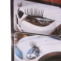 Wholesale 2PCS Headlight Sticker Car Eye Lash Funny Car Eyelashes For Car Headlights Lamp Lights Decoration Decals EJ873902