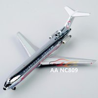 american airlines toys - 2016 New Fashion Color Sliver American Airlines AA NC809 Alloy Aircraft Airplane Model Toy Gift B1010
