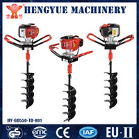 Wholesale Gas Power Gardening Digger Earth Auger Agricultural Drill Cultivator Hole Digger Tools Hot Sale Planting Auger