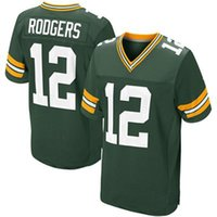 Wholesale Aaron Rodgers Jersey Green Elite Jersey Cheap American Football Jerseys Mens Uniforms Brand Sports Jerseys with Stitched Name Number