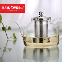 Wholesale Kamjove a series of tea cup tea pot elegant cup glass tea set flower tea cup