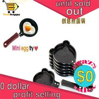 Wholesale 1 New Lovely Outdoor different random Shape Egg Pan Cake Mini Non Stick Pot Fry Frying Kitchen Cooking tools yearhappy