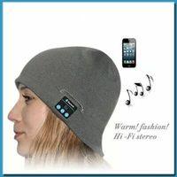 Wholesale Wireless Beanie Hat Bluetooth Gym headset music hat ideal warm winter hats headset handsfree ePacket