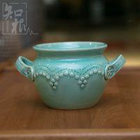 Wholesale Small vase ceramic handmade jewelry at home neoclassical kiln succulents flower vase flower holder ornaments porcelain
