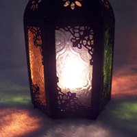 Wholesale JK604 Classical Iron Candlestick creative props ornaments Moroccan style wedding lantern crafts