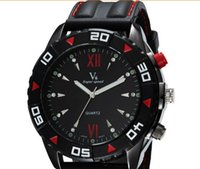 battery ride - 2015 Hot sale New V6 Casual Quartz Men Watches Riding Sport Wristwatch Dropship silicone Clock Fashion Hours Dress Watch CHRISTMAS GIFT