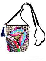 hmong - Women bag New Vintage Boho Hobo Hmong Ethnic Embroidery Shoppers Bag Women s shoulder bag Embroidered handbag