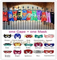 61 - 61 Styles High Quality Superhero Kids Cartoon Capes Mask Set Superman Batman Star War Ninja Transformer Kids Halloween Cape Mask