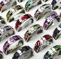 Wholesale Hot Sale Jewelry Mix Color Sequins Stainless steel Fashion Women Mens Rings