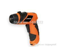 Wholesale X POWER DC V Palm Grip Screwdriver Battery Operated Cordless electric drill Household DIY Tools Home assistance with LED