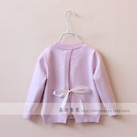 Wholesale New spring baby jumper sweaters girls sweaters kids Flowers back slit sweaters children outerwear sweaters girls