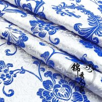 Wholesale Brocade cloth fabric costume Han Chinese clothing baby clothes clothing dress fabric cloth brocade porcelain Pteris