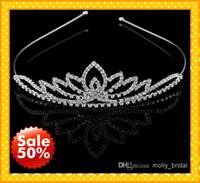 crystals for sale - 2015 Hot Sale Royal Shiny Crystal Bridal Accessories Tiaras Hair Accessories Crown For Wedding Brides Fashion In Stock Hot