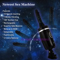 Cheap New Sex Machine, Vibrating Thrusting Sex Machine Dildo Vibrator Suction Cup Automatic Female Masturbation Machine, Sex Products