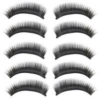 Wholesale Deliacte Pairs Natural Long Thick Black False Eyelashes Charming Eye Lashes Makeup Jun5 Hot Selling