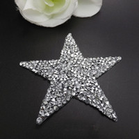 achat en gros de patch pierre-25pcs Hot Fix Cristaux Motifs Heat Transfer Rhinestones Motifs Crystal Strass Stones Applique Patches Pour Mariage Chaussures