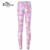angels fitness - New Women Sport Pants Women Trousers Fashion White angel pink cartoon cat Pant Capris Cute sportswear Fitness