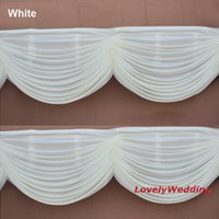drapes curtains - High quality drape swag to attach ice Silk Wedding Backdrops home curtain swag