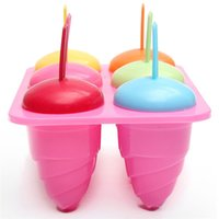 best popsicles - 20X13 X7 cm Plastic Ice Cream Mold DIY Cell Pop Popsicle Model Maker Tray Pan Kitchen Yogurt Icebox Best Deal
