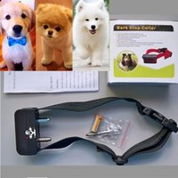 Large Breed auto stop electronic - 50pcs Voice control ELECTRONIC AUTO Small Medium Anti No Bark Dog Training Shock Collar bark stop collar