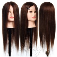 Wholesale Hot Sold quot Real Human Hair Training Head Hairdressing Mannequin Doll NEW
