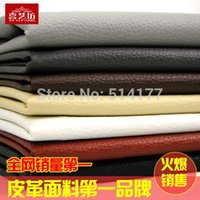 big leather sofa - Pu big litchi sofa artificial leather imitation leather soft bag leather diy fabric thick soft cm