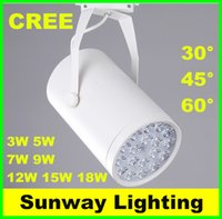 Wholesale Black White LED track light W W W W W W W lighting Natural Cool Warm White led clothing lights AC V