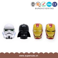 Wholesale 2015 new star wars ml Iron Man Helmet Shaped Plastic Coffee Mug Cup Holder D Tea Cup Drinkware Snack Container