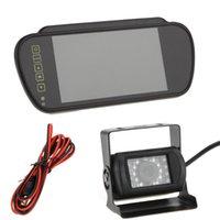 Auto universal 7 '' LCD monitor del coche HD Display de espejo retrovisor del coche monitor con copia de seguridad de 18 IR invierte la cámara CMOS color