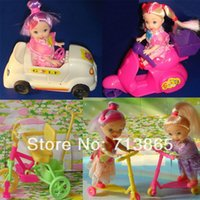 doll accessories - Children Play Toys Girls Birthday Gift doll bike Car Motorcycle scooters Accessories For Barbie Doll
