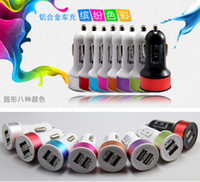 Wholesale 5V A Mini Double USB Car Charger for iPhone S C S Plus iPad Air Samsung Galaxy S2 S3 S4 S5 Note MP3 M4 Camera