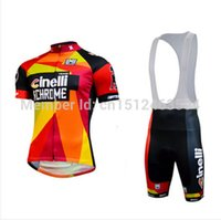 santini - Maillot Santini Cinelli Chrome Jersey Special Edition sports cycling jersey clothing wear Short sleeve Shorts bib gel pad