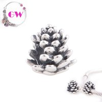 Wholesale Christmas Pine Cone bulk charms Bracelets Occasions DIY sterling silver charms No90 T095