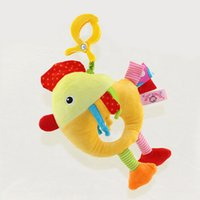 Wholesale Brand Bed Cathe Hanging Toy chicken Plush vibration Toy Rattle Teether newborn baby Gift Multifunction Educational