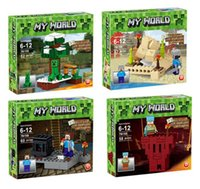 plastic building blocks toys - 79159 minecraft Blocks JJ Minifigures Building Blocks Sets Model Bricks Toys Assemble Toys for Children gift kids toys