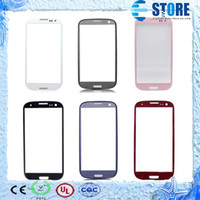 Wholesale Replacement Front Screen Lens Outer Glass For SAMSUNG GALAXY S3 White Black Drop Shipping M