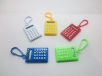 Wholesale Korea Creative cute with thin root biscuit type portable computer mini calculator Keychain exam