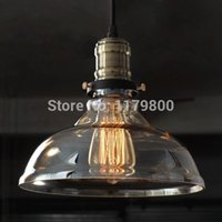 Wholesale Retro Vintage Industrial Style Edison Glass Ceiling Light Lamp For Bedroom Living Room E27 Home Restaurant Cafe Decoration