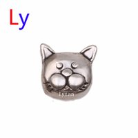 Wholesale New Silver cat CHARMS charms Floating Charms Lockets Charms Floating Lockets Charms For Glass Lockets MFC1721