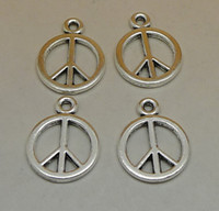bag of charms - peace symbol pc bag of grams of x40mm antique silver colour alloy bead jewelry accessories