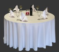 Wholesale 108inch dia high quality visa round table cloth