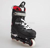 aggressive skates - aggressive skating gray and black color T wheel A mm