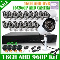 Wholesale 16CH P AHD DVR kit AHD M p HDMI AHD CCTV DVR MP IR Outdoor LEDs Security Camera TVL Camera System