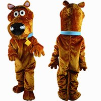 Wholesale NEW big scooby doo dog brown mascot costume high quality fancy dress adult size party Halloween Manufacturer of custom
