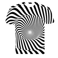 Cheap Newest style 3d t shirt men's t shirt both side printed Black and white texture 3D tshirts Hot models t-shirts